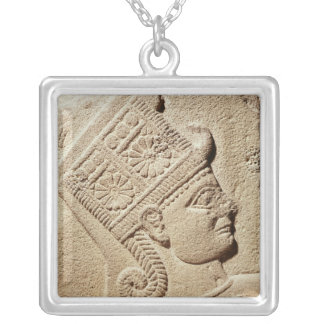 Relief depicting the head of a young prince silver plated necklace