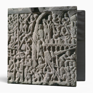 Relief depicting the Siege of Carcassonne 3 Ring Binder