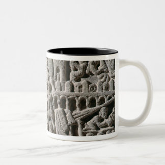 Relief depicting the Siege of Carcassonne Two-Tone Coffee Mug