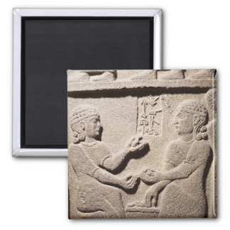 Relief depicting the son of King Araras Magnet