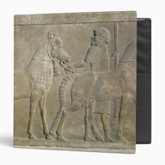 Relief depicting the tributaries of Sargon II 3 Ring Binder