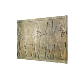 Relief depicting the tributaries of Sargon II Canvas Print
