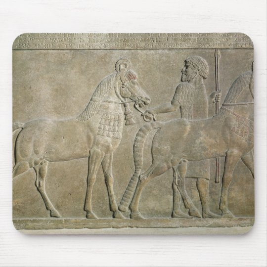 Relief depicting the tributaries of Sargon II Mouse Pad