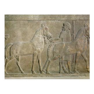 Relief depicting the tributaries of Sargon II Postcard