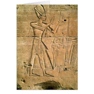 Relief depicting Tuthmosis III  making an Card