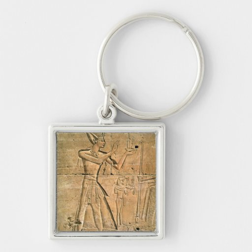 Relief depicting Tuthmosis III  making an Keychain