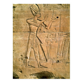 Relief depicting Tuthmosis III  making an Postcard