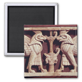Relief depicting two griffons from Arslan Tash Magnets