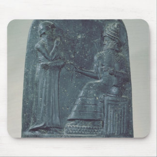 Relief Figure of the God Shamash dictating laws Mouse Pad