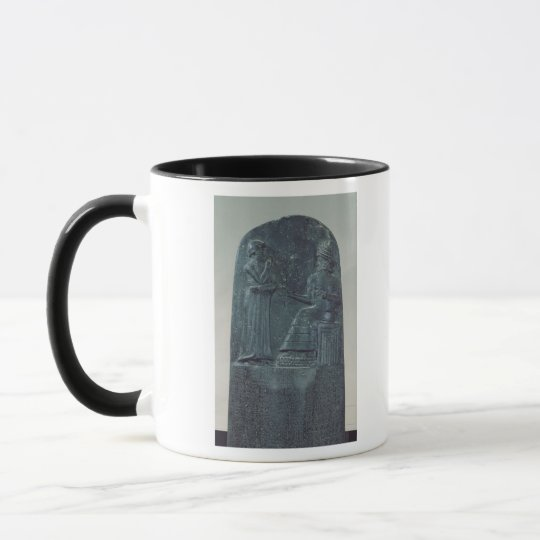 Relief Figure of the God Shamash dictating laws Mug