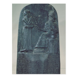 Relief Figure of the God Shamash dictating laws Postcard