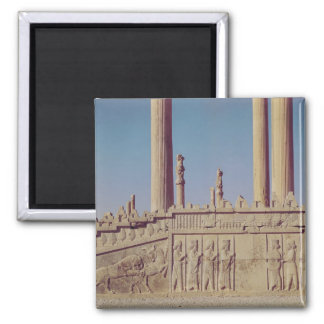 Relief frieze on the front of the eastern 2 inch square magnet