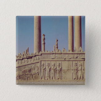 Relief frieze on the front of the eastern pinback button