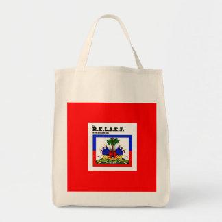 RELIEF -HAITI FLAG DESIGN TOTE BAG