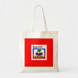 RELIEF -HAITI FLAG DESIGN TOTE BAGS