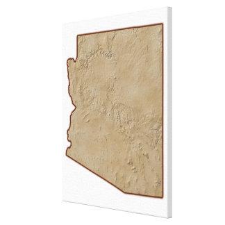 Relief Map of Arizona Canvas Print