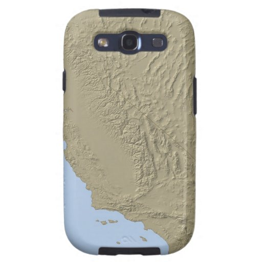 Relief Map of California and Nevada Galaxy SIII Covers