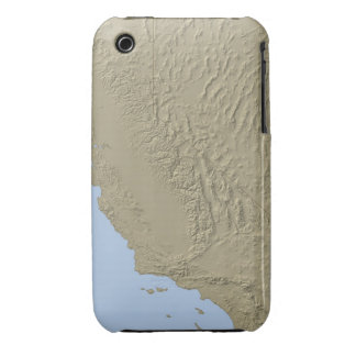 Relief Map of California and Nevada Case-Mate iPhone 3 Cases