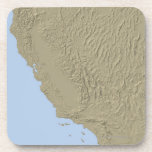 Relief Map of California and Nevada Coasters