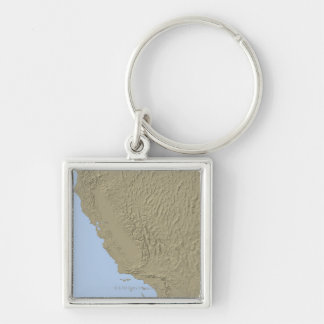 Relief Map of California and Nevada Keychain