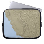 Relief Map of California and Nevada Laptop Computer Sleeve