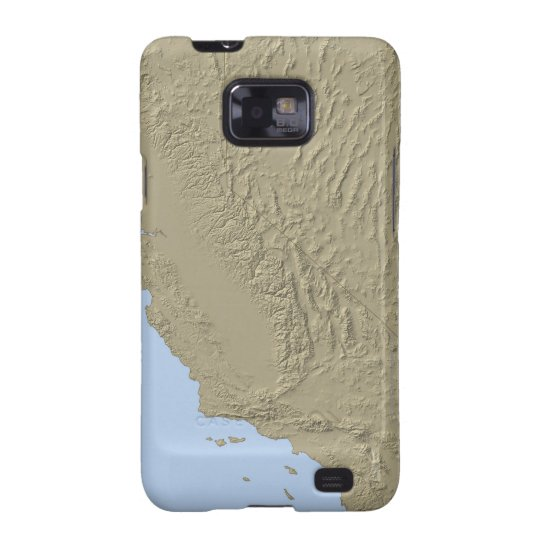 Relief Map of California and Nevada Samsung Galaxy S2 Cover
