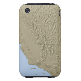 Relief Map of California and Nevada Tough iPhone 3 Covers