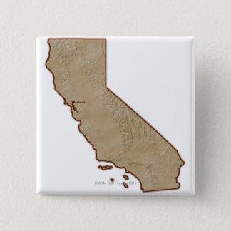 Relief Map of California Button