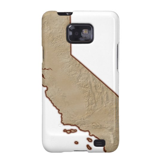 Relief Map of California Galaxy SII Case