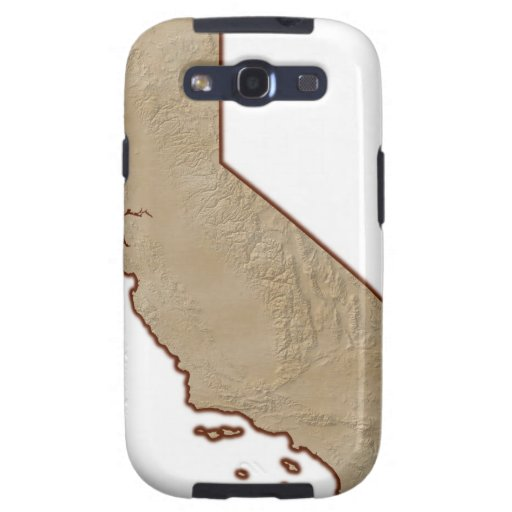 Relief Map of California Galaxy SIII Cases