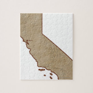 Relief Map of California Jigsaw Puzzle