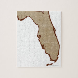 Relief Map of Florida Jigsaw Puzzle