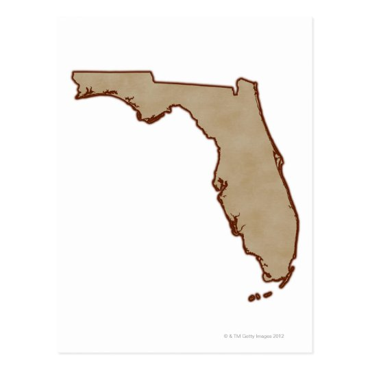 Relief Map of Florida Postcard