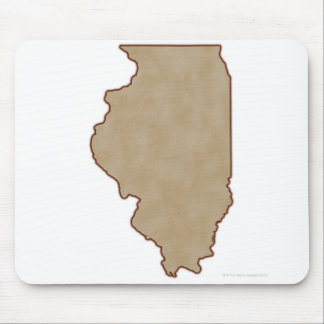 Relief Map of Illinois Mouse Pad