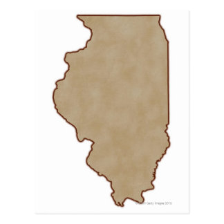 Relief Map of Illinois Postcard