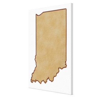 Relief Map of Indiana 2 Canvas Print