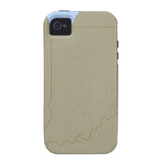 Relief Map of Indiana Case-Mate iPhone 4 Covers