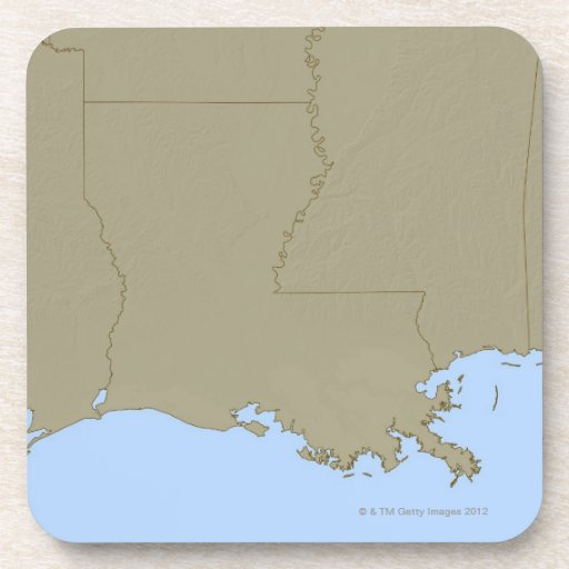 Relief Map of Louisiana Coasters