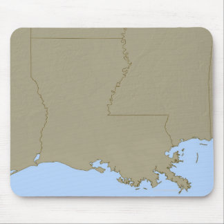 Relief Map of Louisiana Mouse Pad