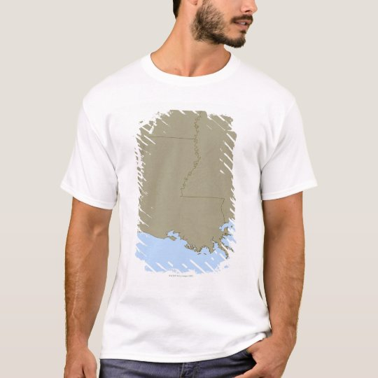 Relief Map of Louisiana T-Shirt