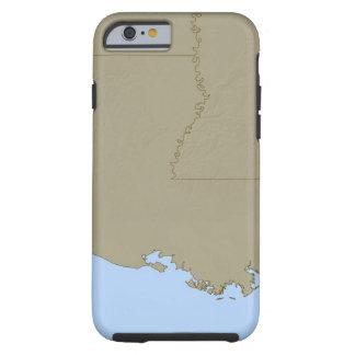 Relief Map of Louisiana Tough iPhone 6 Case