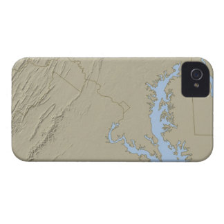 Relief Map of Maryland iPhone 4 Case-Mate Case