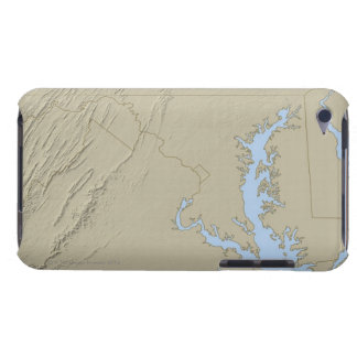Relief Map of Maryland iPod Touch Cover