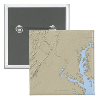 Relief Map of Maryland Pinback Button