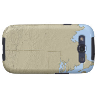 Relief Map of Massachusetts Galaxy S3 Case