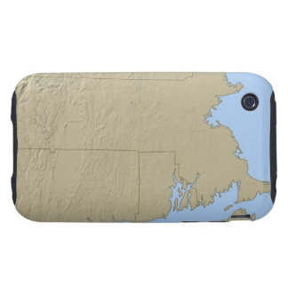 Relief Map of Massachusetts Tough iPhone 3 Covers