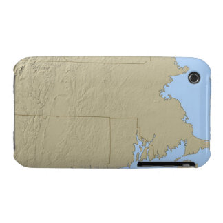 Relief Map of Massachusetts Case-Mate iPhone 3 Case