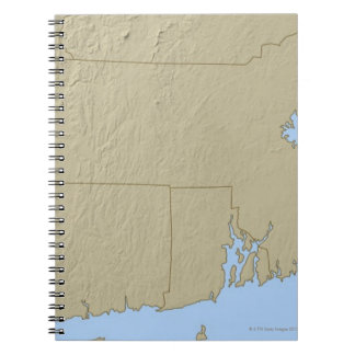 Relief Map of Massachusetts Spiral Note Book