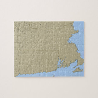 Relief Map of Massachusetts Jigsaw Puzzle
