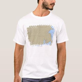 Relief Map of Massachusetts T-Shirt